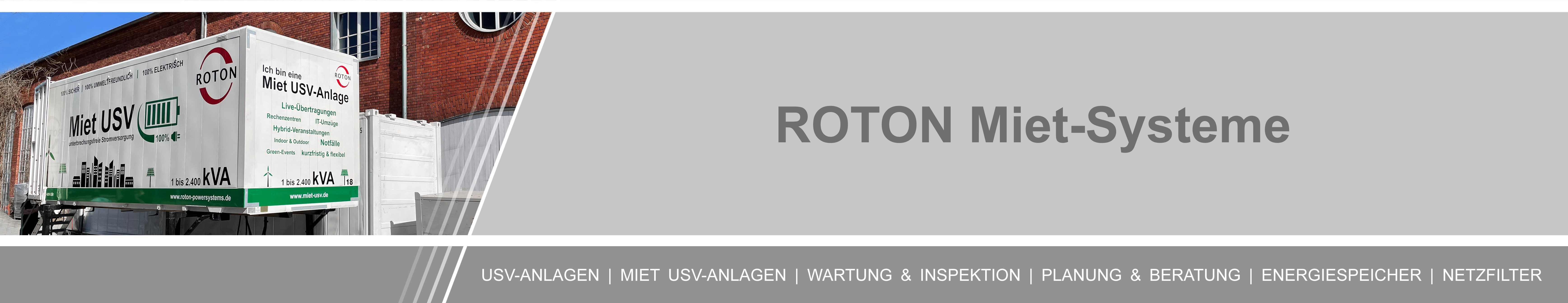 Miet-USV - ROTON PowerSystems GmbH
