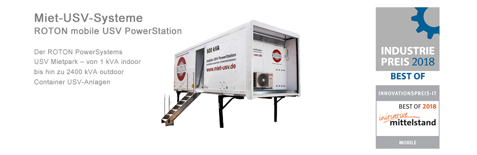 ROTON PowerSystems: Die mobile USV PowerStation für Outdoor-Anwendungen